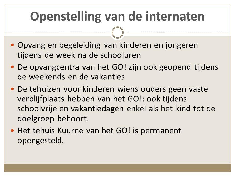 De internaten van het gesubsidieerd officieel onderwijs (Vlaamse steden en gemeenten en BHG) Overzicht per provincie - 1 Antwerpen MPI Auticant MPI Auticant MPI Mytyl MPI Mytyl 2 semi-internaten, verbonden aan scholen BuO 2 semi-internaten, verbonden aan scholen BuO (van kleuter tot einde BuSO) Limburg Internaat en semi- internaat op 4 campussen voor personen met verstandelijke handicap Internaat en semi- internaat op 4 campussen voor personen met verstandelijke handicap (van peuters tot volwassenen)