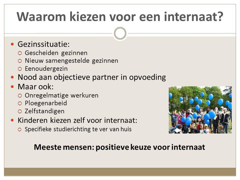Plaatsing in de internaten: cijfers VSKO (op basis van enquête uit 2008)  3,9 % is geplaatst (274/7078 internen)  Van die 274 is 73% geplaatst door Comité Bijzondere Jeugdzorg en 27% door Jeugdrechtbank GO.