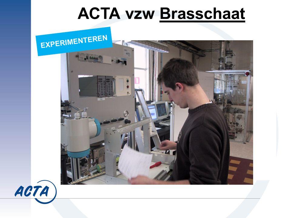 EXPERIMENTEREN ACTA vzw Brasschaat