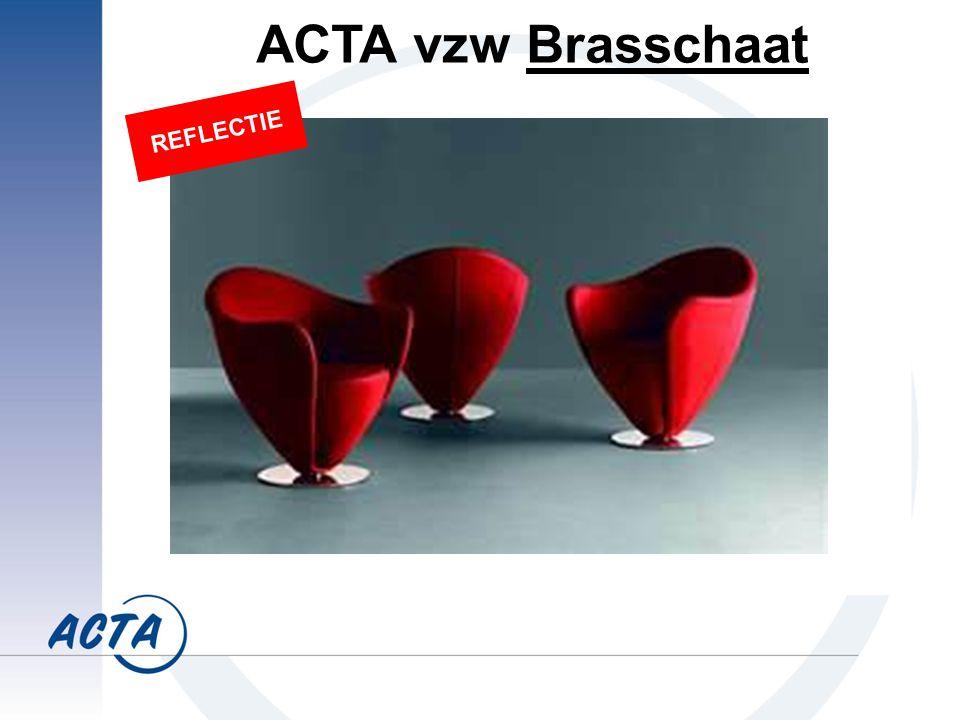 ACTA vzw Brasschaat REFLECTIE