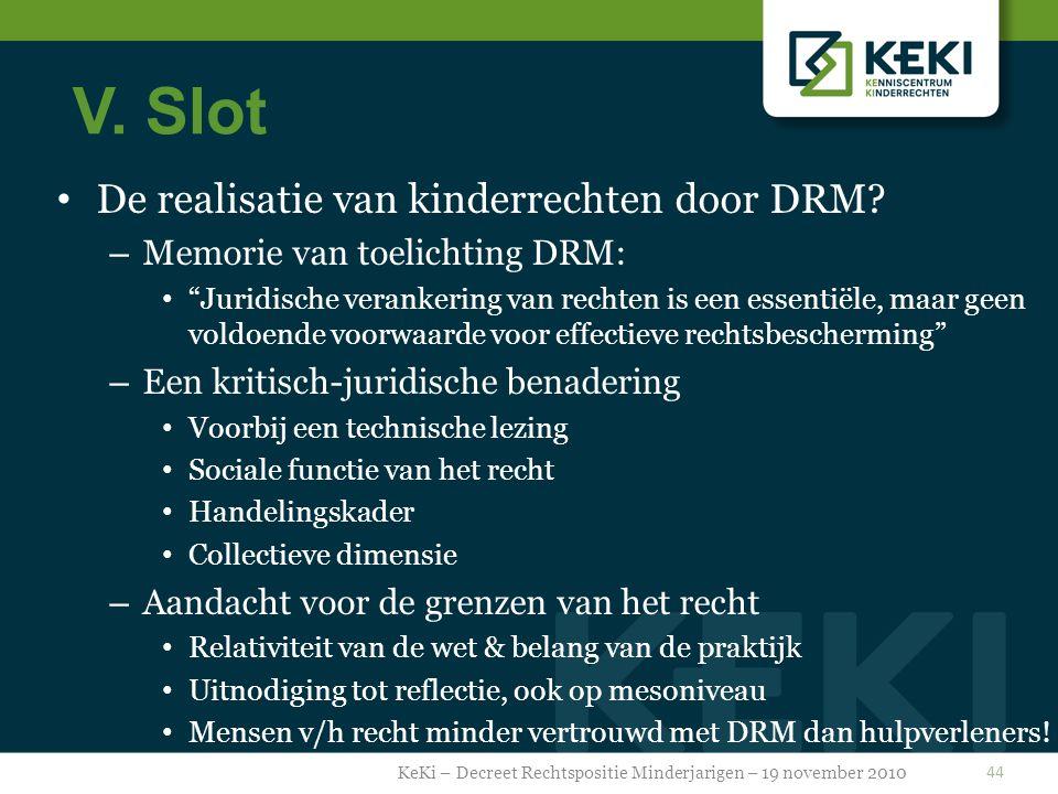 V.Slot De realisatie van kinderrechten door DRM.