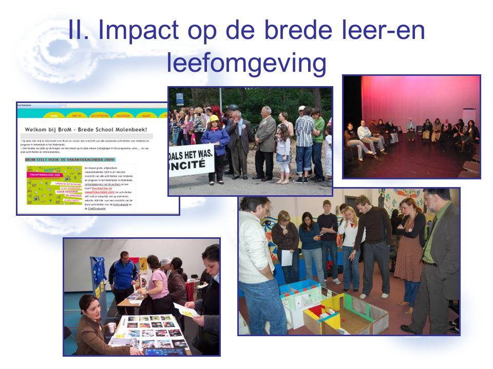 II. Impact op de brede leer-en leefomgeving