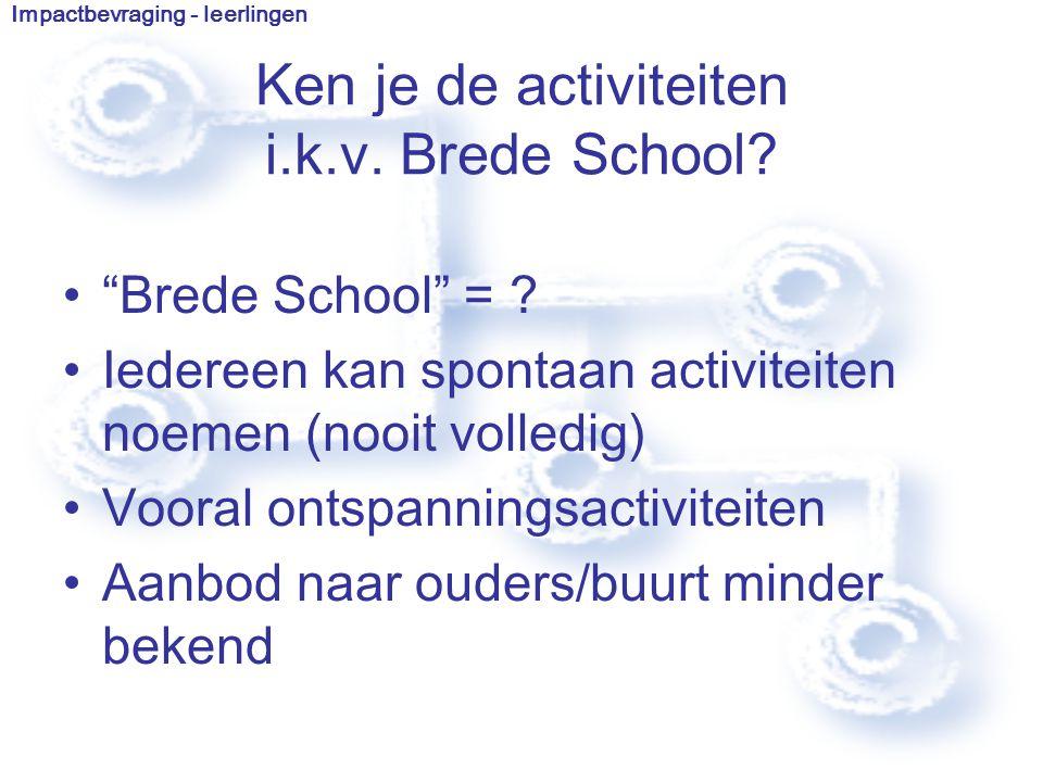 Brede School = .