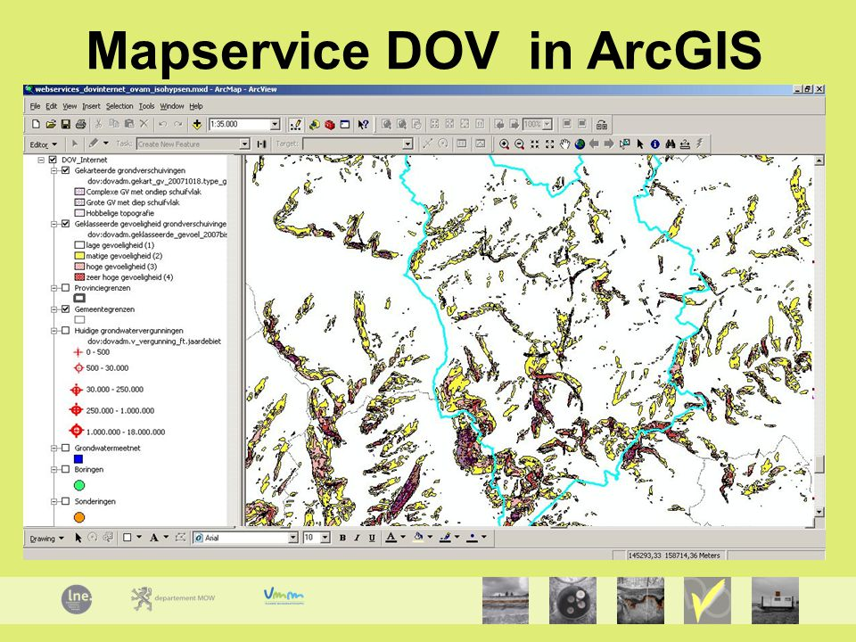 Mapservice DOV in ArcGIS