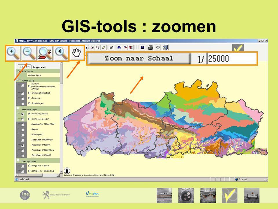 GIS-tools : zoomen