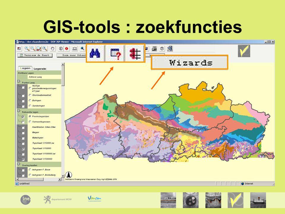 GIS-tools : zoekfuncties