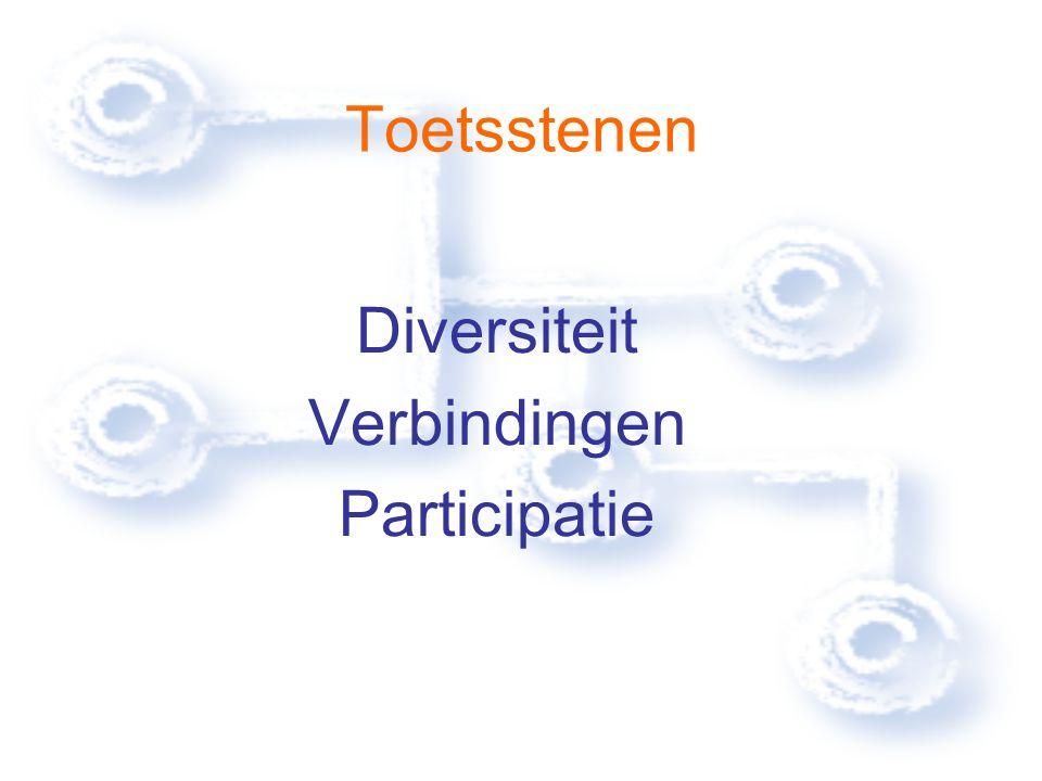 Toetsstenen Diversiteit Verbindingen Participatie