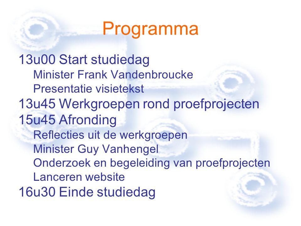 Toespraak U kan de toespraak van minister Vandenbroucke terugvinden op: http://www.vandenbroucke.com en http://www.vlaanderen.be/bredeschool