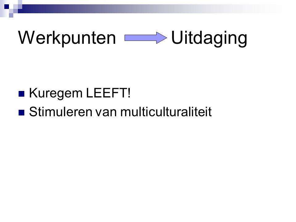 Werkpunten Uitdaging Kuregem LEEFT! Stimuleren van multiculturaliteit