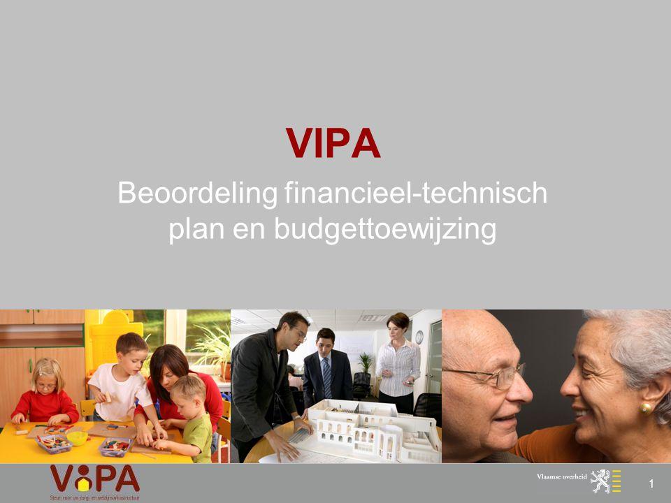 1 VIPA Beoordeling financieel-technisch plan en budgettoewijzing