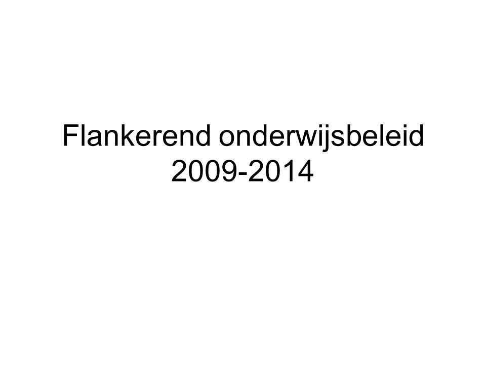 Beleidsnota 2009-2014 is onderverdeeld in projecten 'De regierol van de gemeenten in het lokaal flankerend onderwijsbeleid verstevigen' = project 38
