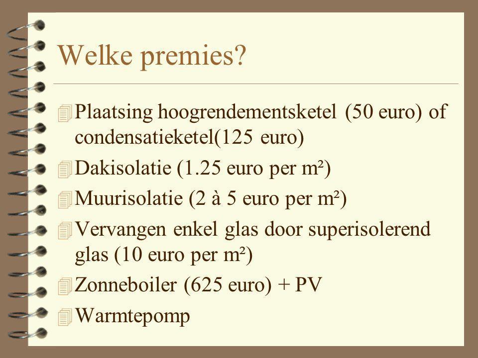 Premies netbeheerder 4 WIE 4 WAAROM PREMIES 4 Heeft verbintenis met overheid om 2% energie te besparen in 2004