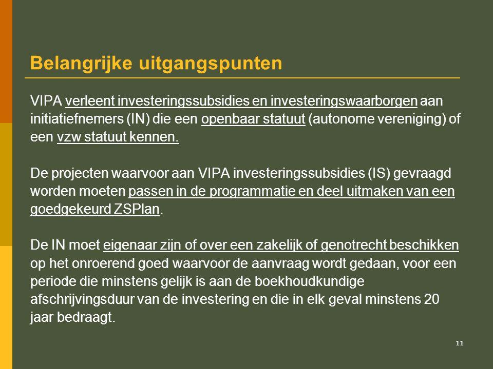 12 Bouwfysische, -technische en kwalitatieve normen De investeringen moeten gebeuren overeenkomstig de erkenningnormen en de bouwtechnische en -fysische normen inzake: - brandveiligheid; - toegankelijkheid gehandicapten tot publieke gebouwen; - EPB-eisen; - NBN-normen; - ARAB en AREI; - typebestekken van de Vlaamse overheid; - stedenbouw en ruimtelijke ordening; - milieuvergunningen; - integratie van kunstwerken.