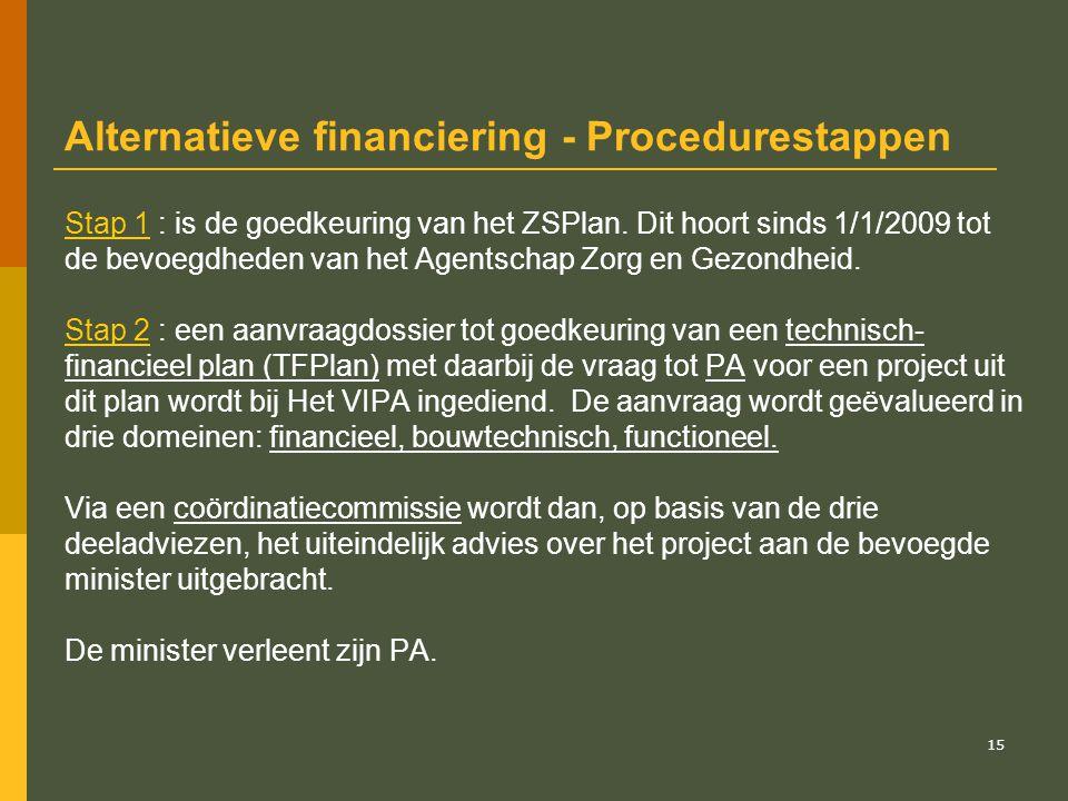 16 Procedure (2) Stap 3 : eens het PA betekend is aan de IN kan hij de werken toewijzen aan een aannemer en het bevel van aanvang der werken verlenen.