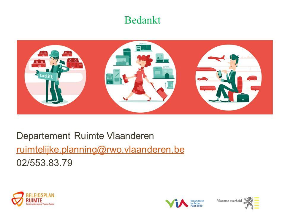 Bedankt Departement Ruimte Vlaanderen ruimtelijke.planning@rwo.vlaanderen.be 02/553.83.79