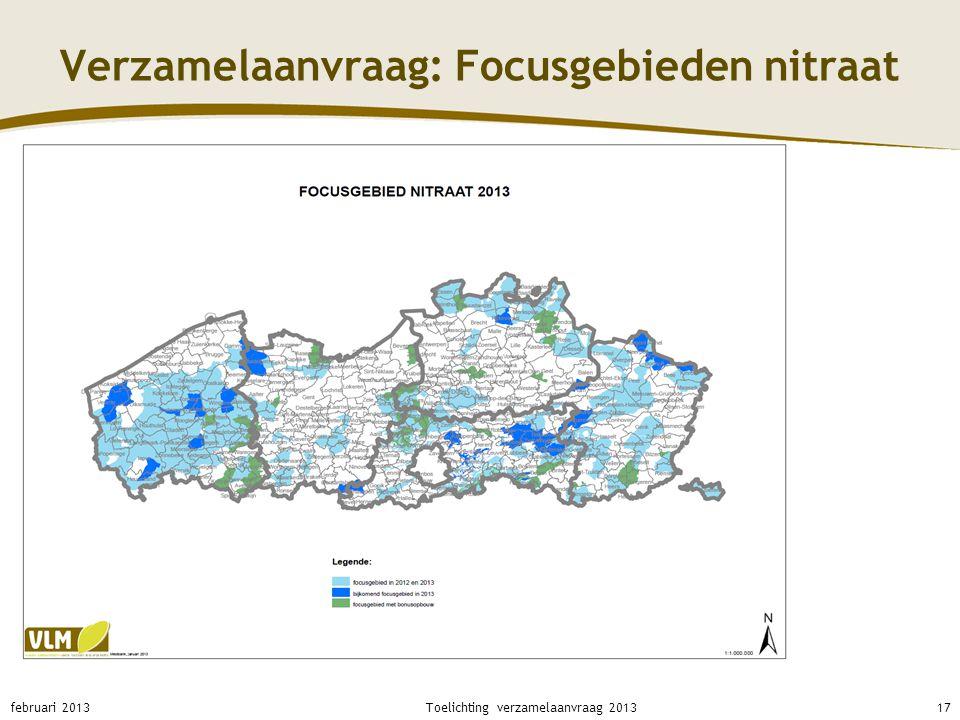 Verzamelaanvraag: Focusgebieden nitraat februari 201317Toelichting verzamelaanvraag 2013