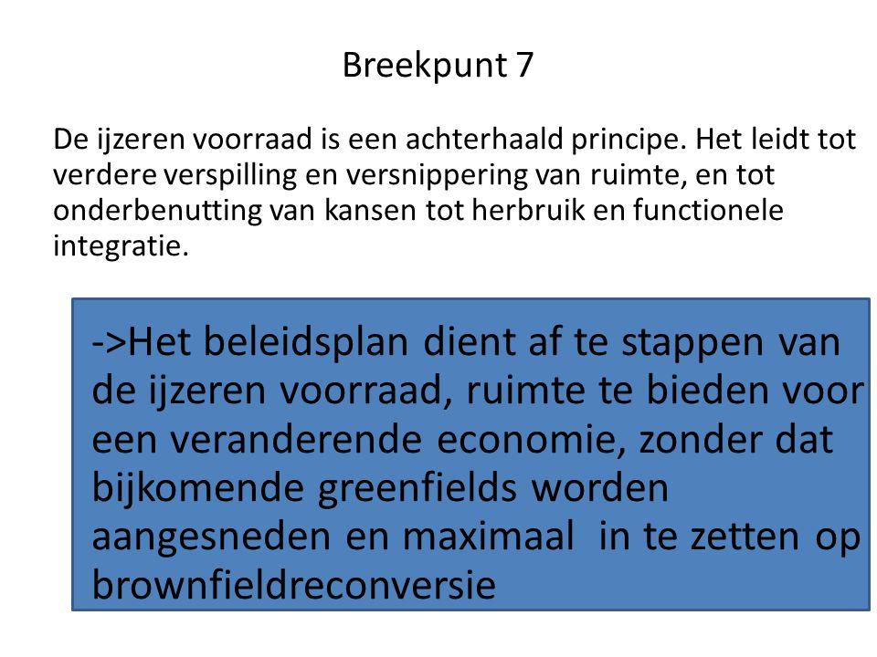 Breekpunt 7 De ijzeren voorraad is een achterhaald principe.
