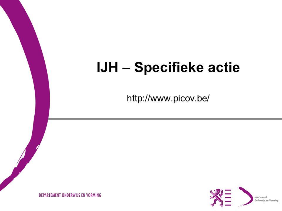 IJH – Specifieke actie http://www.picov.be/