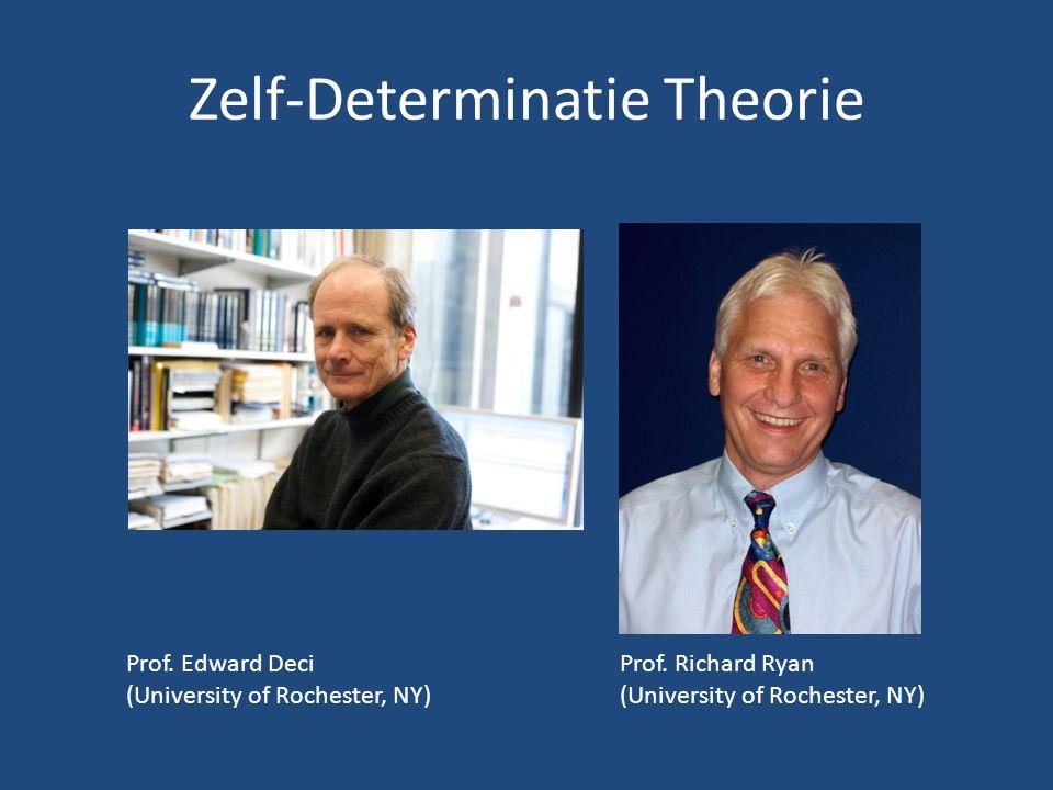 Zelf-Determinatie Theorie Prof.Edward Deci (University of Rochester, NY) Prof.