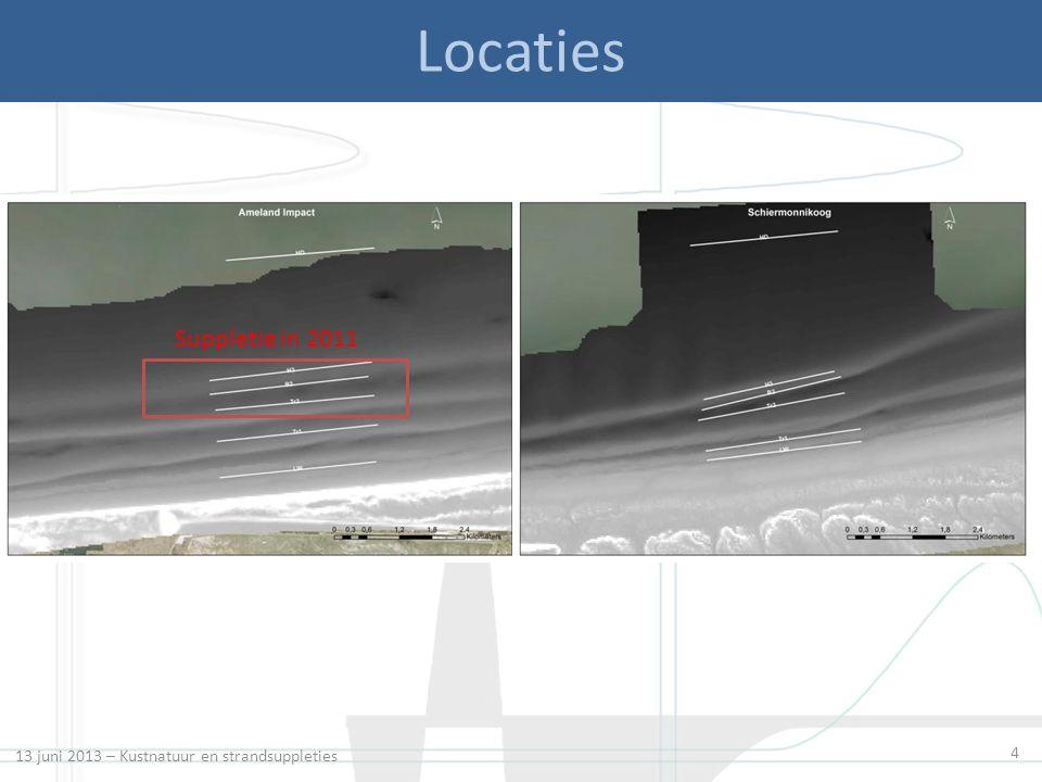 4 Locaties Suppletie in 2011 13 juni 2013 – Kustnatuur en strandsuppleties