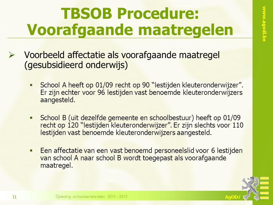 www.agodi.be AgODi TBSOB Procedure Terbeschikkingstelling  Wanneer.