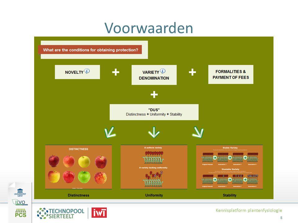 Voorwaarden Kennisplatform plantenfysiologie 8