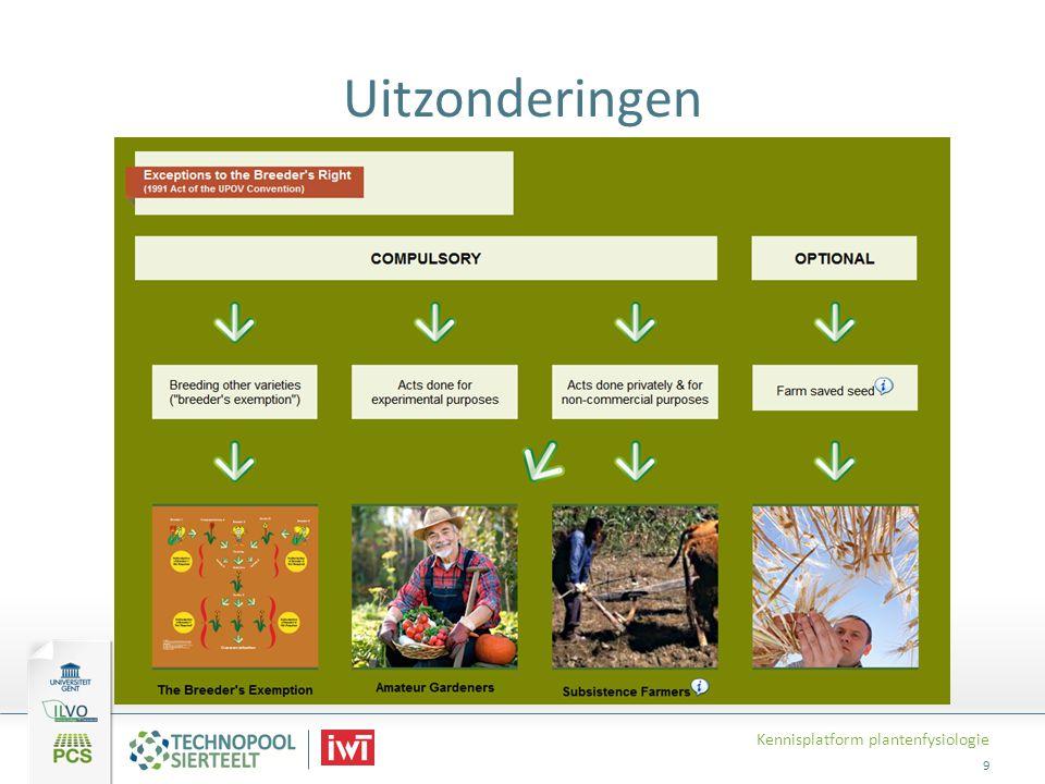 Uitzonderingen Kennisplatform plantenfysiologie 9