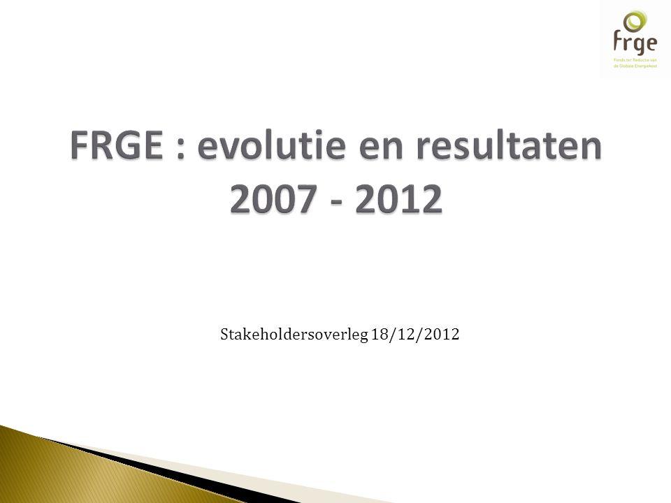 Stakeholdersoverleg 18/12/2012