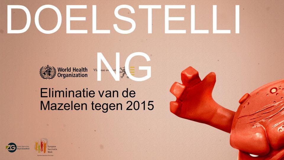 DOELSTELLI NG Eliminatie van de Mazelen tegen 2015
