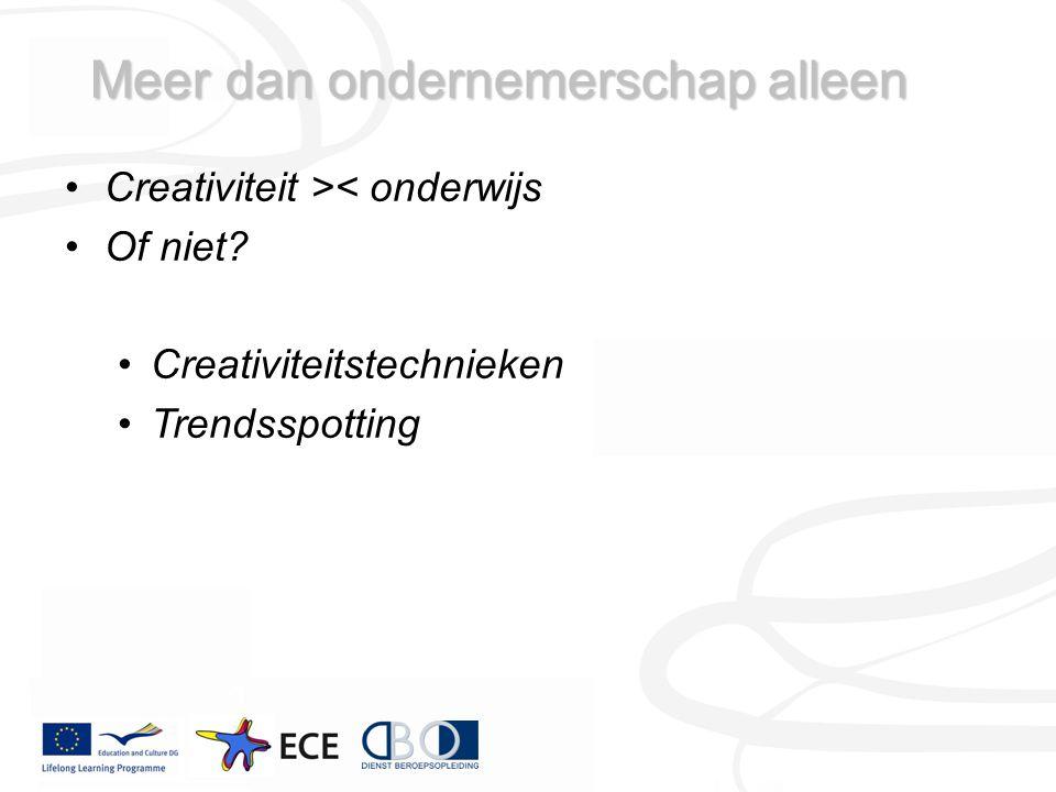 Creativiteit >< onderwijs Of niet.