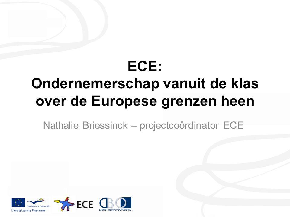 ECE: Ondernemerschap vanuit de klas over de Europese grenzen heen Nathalie Briessinck – projectcoördinator ECE