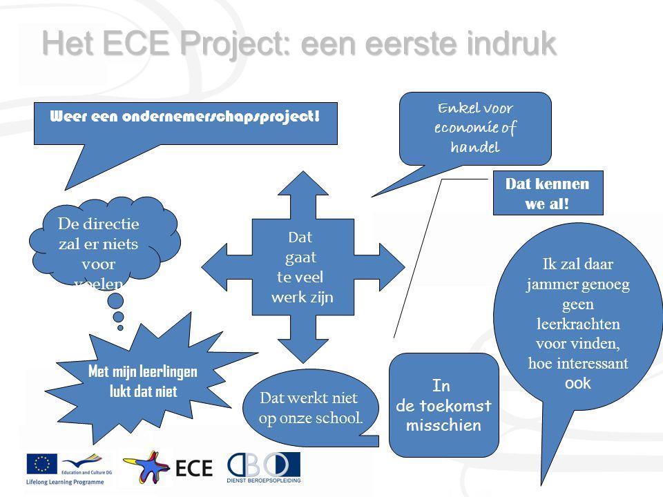 Het ECE Project: een eerste indruk Weer een ondernemerschapsproject.