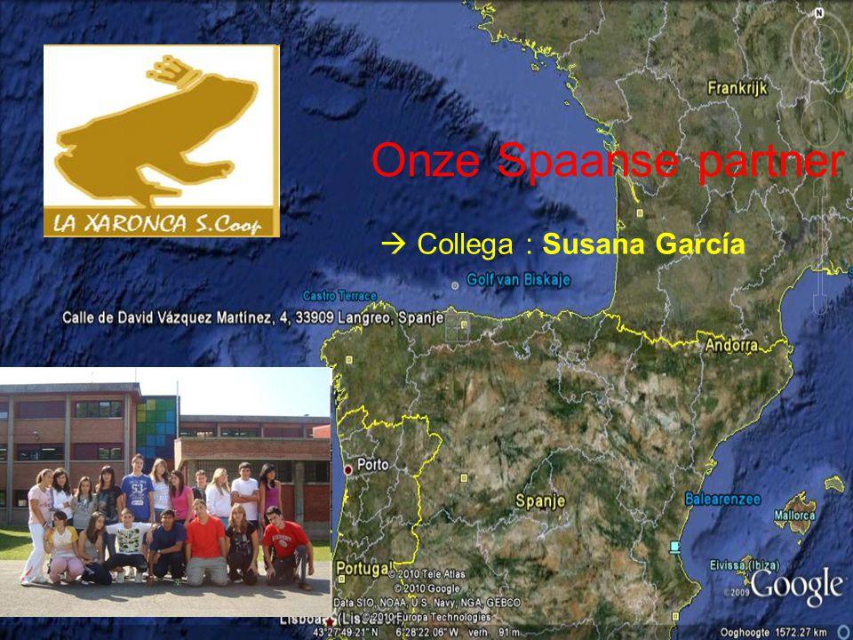 Onze Spaanse partner  Collega : Susana García