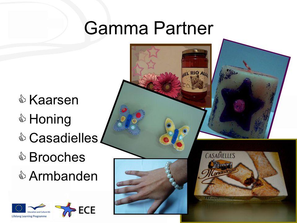 Gamma Partner  Kaarsen  Honing  Casadielles  Brooches  Armbanden
