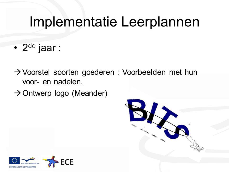 Implementatie Leerplannen 2 de jaar :  Voorstel soorten goederen : Voorbeelden met hun voor- en nadelen.