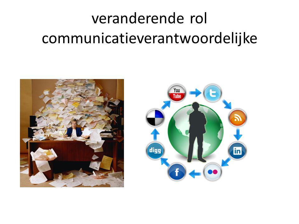veranderende rol communicatieverantwoordelijke