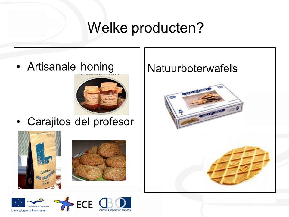 Welke producten? Artisanale honing Natuurboterwafels Carajitos del profesor