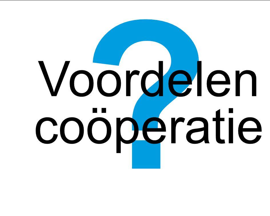 31 ? Voordelen coöperatie