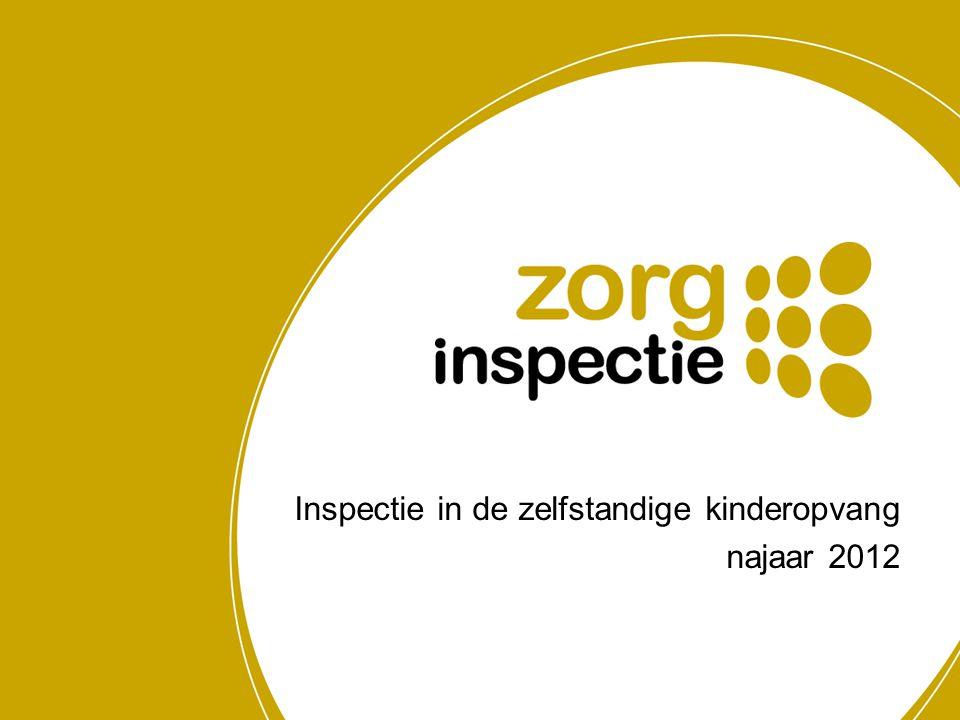 Inspectie in de zelfstandige kinderopvang najaar 2012