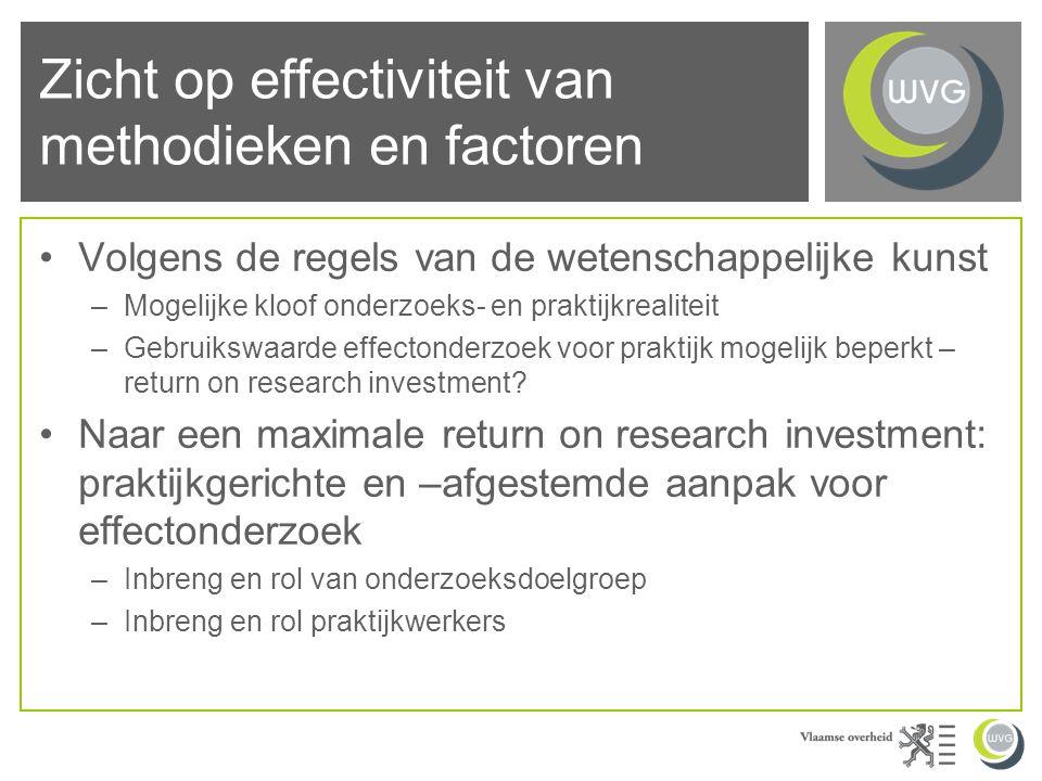 Effectieve ingebruikname van methodieken en factoren Succesfull programs do not contain the seeds of their own replication (Schorr, 1993)