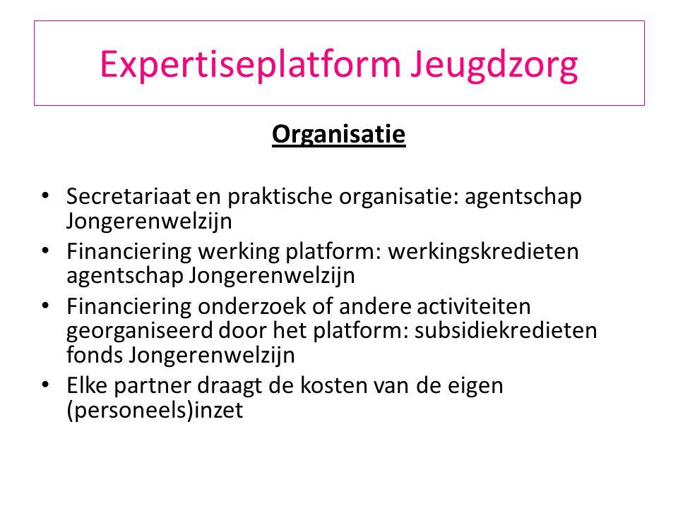 Expertiseplatform Jeugdzorg EXPERTISEPLATFORM ≠ 11 man en een spionkop EXPERTISEPLATFORM = ALLE BELANGHEBBENDEN IN DE JEUGDZORG