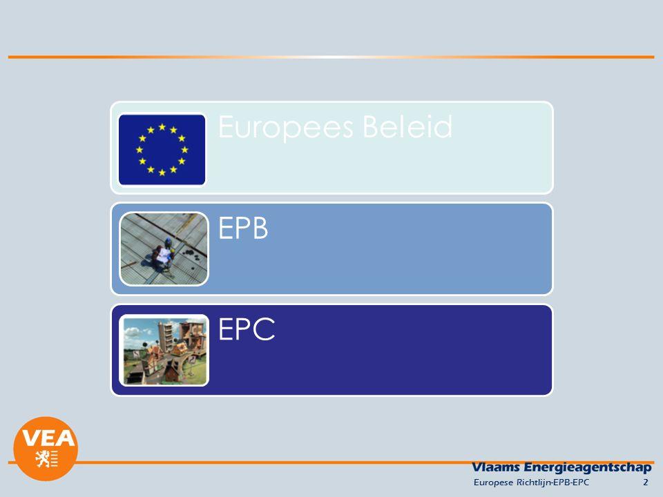 Europese Richtlijn-EPB-EPC2 Europees BeleidEPB EPC