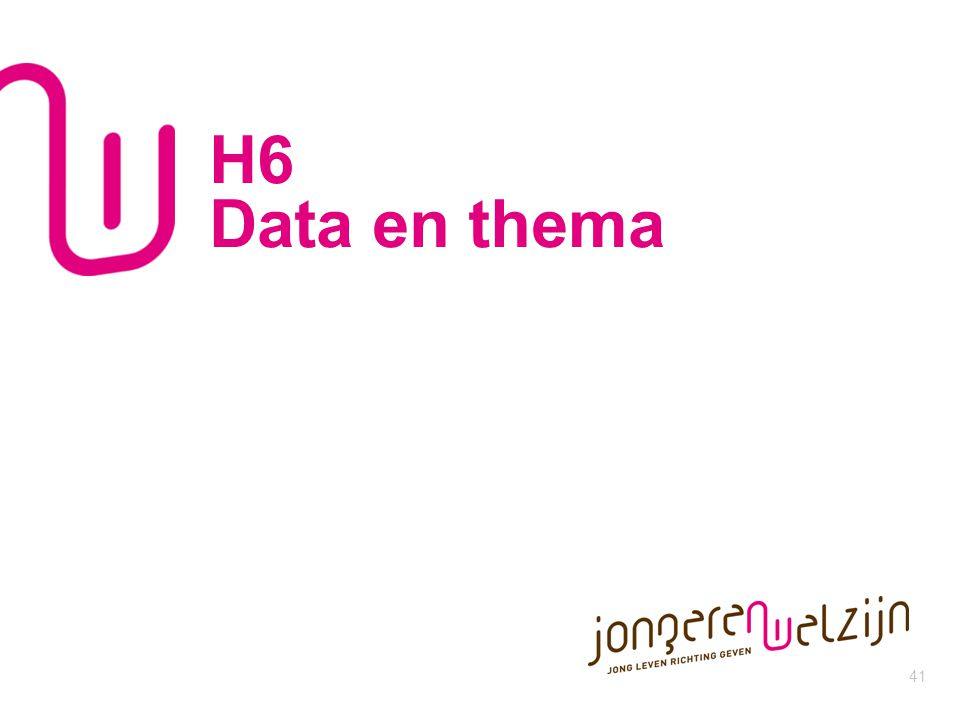 41 H6 Data en thema