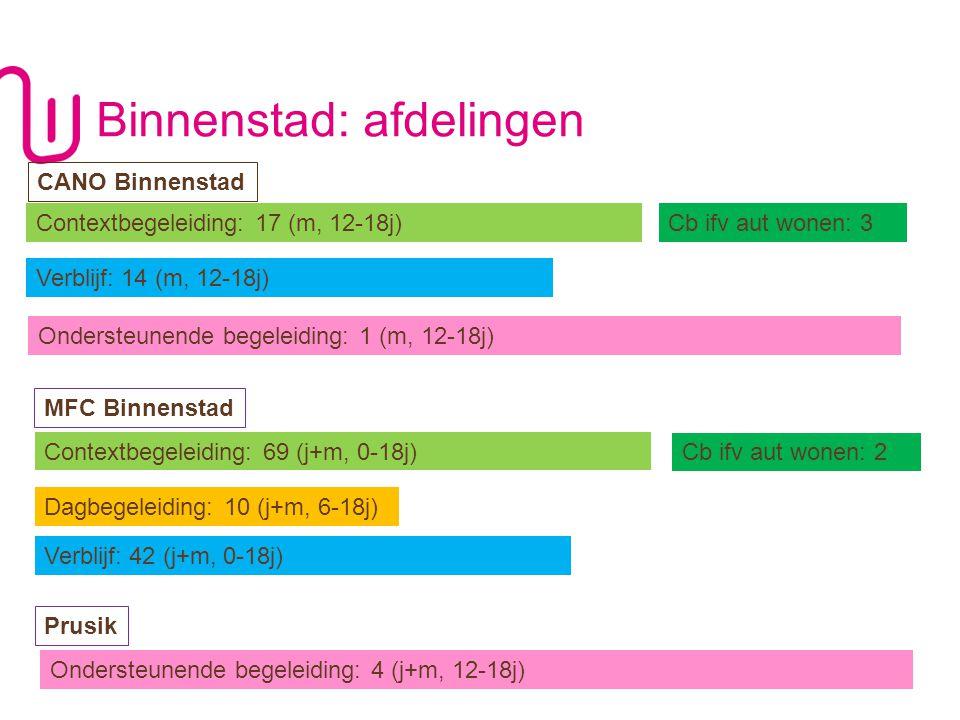 WWW.JONGERENWELZIJN.BE P DE KANTEL 9 Contextbegeleiding: 65 (57b / 6m / 2h) Cb ifv aut wonen: 4 (4b) Verblijf: 49 (11 0-12j / 24 0-18j / 14 +12j (1bis))