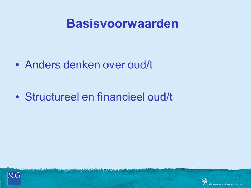 Basisvoorwaarden Anders denken over oud/t Structureel en financieel oud/t