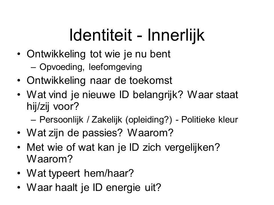 Identiteit - Uiterlijk Hoe ziet je nieuwe ID er uit.