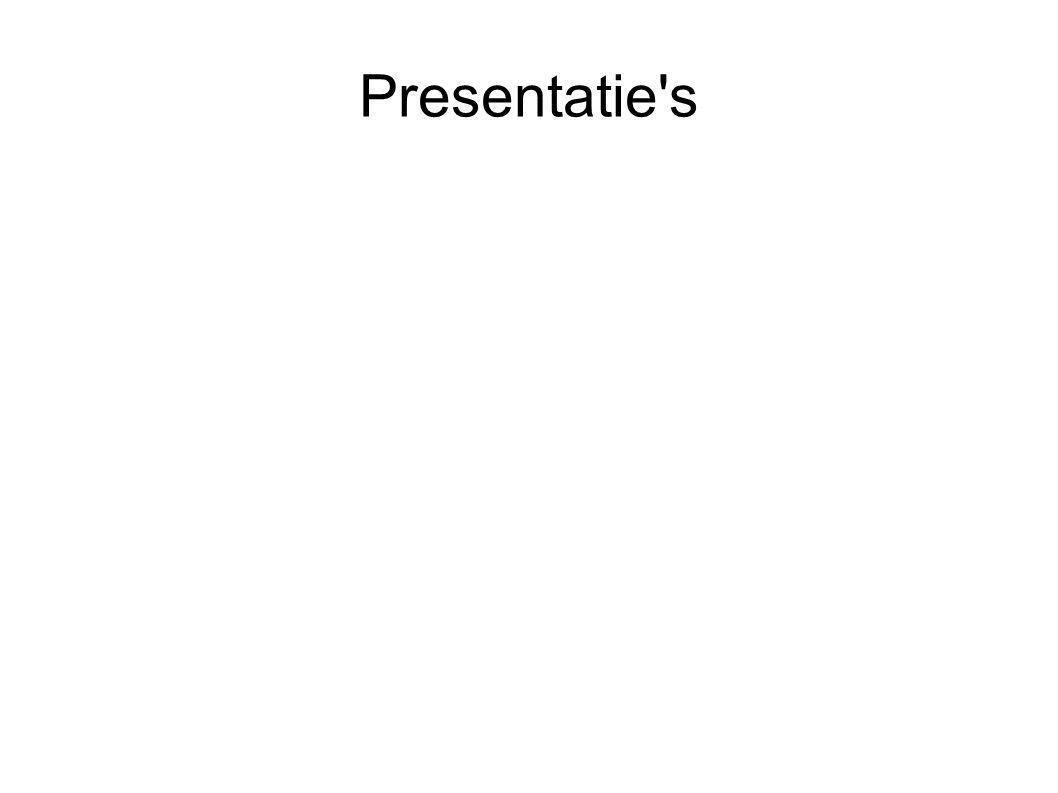 Presentatie's