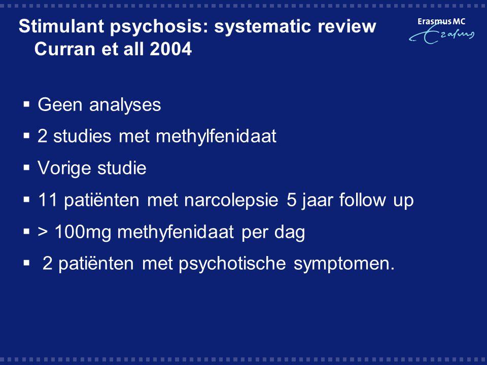 Psychotic and Manic-like Symptoms during stimulant treatment of Attention Deficit Hyperactivity Disorder Randal 2006  FDA rapporten  Alle registratie trials, post registratie trials en meldingen van bijwerkingen.