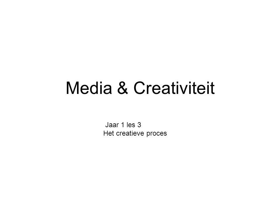 Media & Creativiteit Jaar 1 les 3 Het creatieve proces