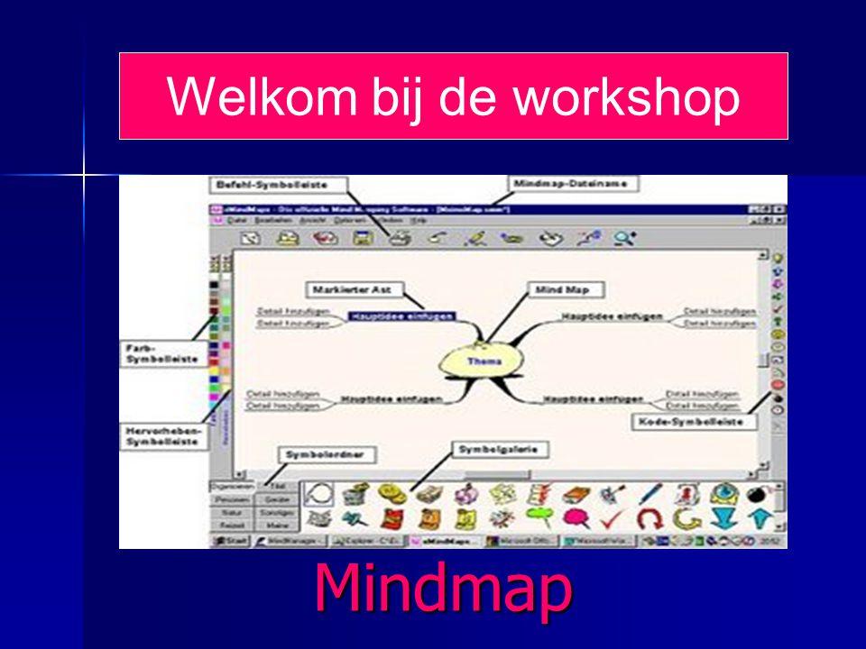 Mindmap Welkom bij de workshop